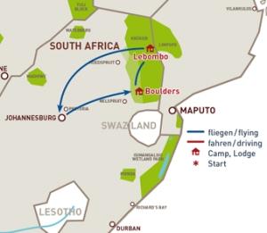 Map of Singita
